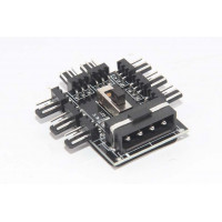 4pin IDE Molex to 8-Port 3Pin Fan Hub